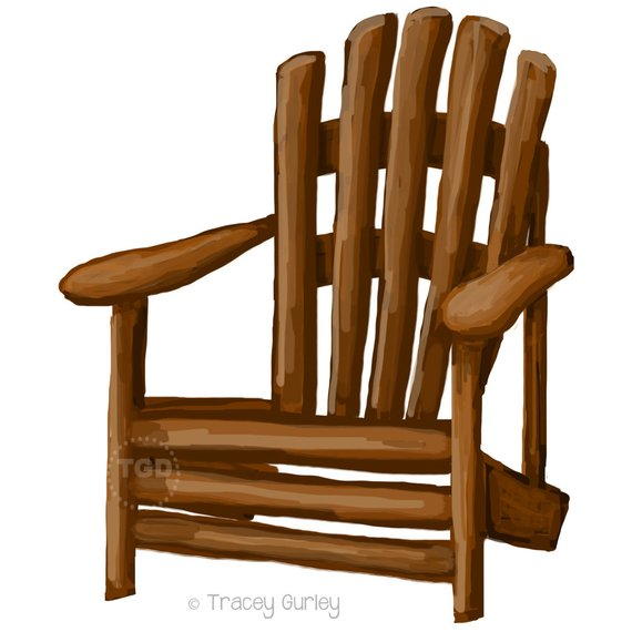 Clip art painting hand. Chair clipart adirondack chair