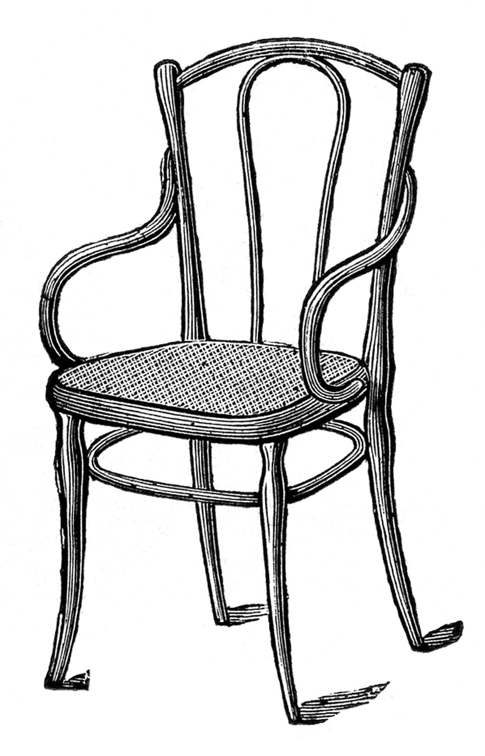 Chair clipart antique. Images caned bentwood chairs