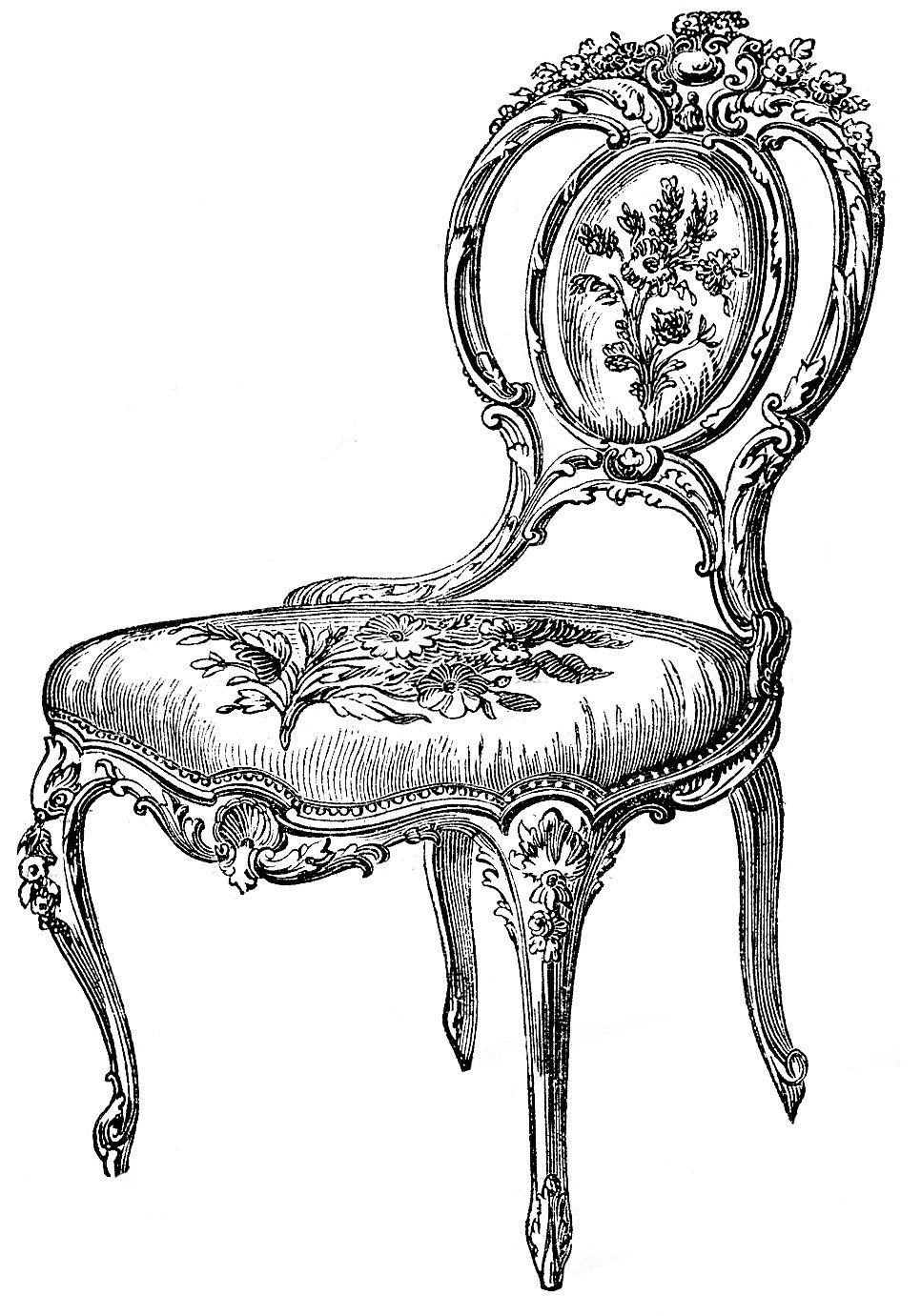 images decorative furniture. Chair clipart antique