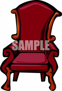 An wing back with. Chair clipart antique