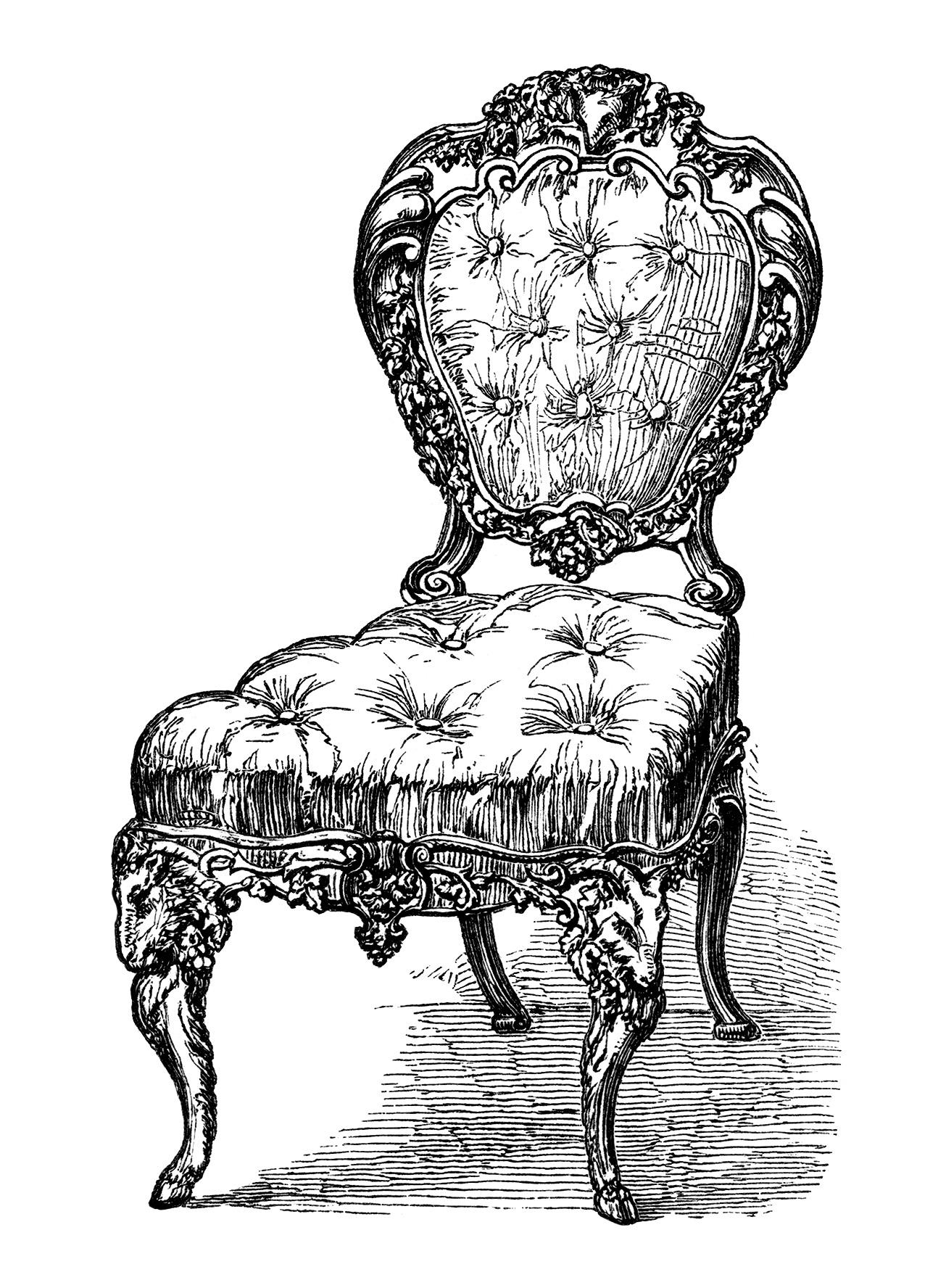 Chairs free clip art. Furniture clipart antique furniture