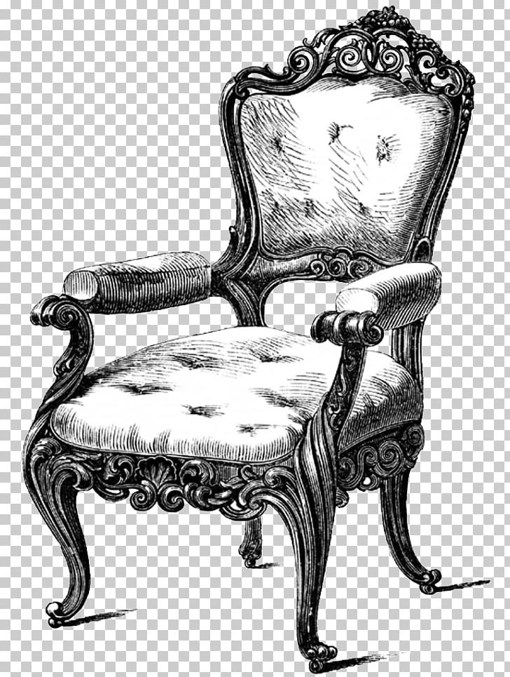 Furniture drawing table couch. Chair clipart antique