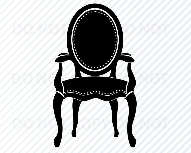 Chair clipart antique. Vintage svg file for