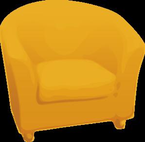 Furniture clipart comfortable chair. Yellow arm clip art