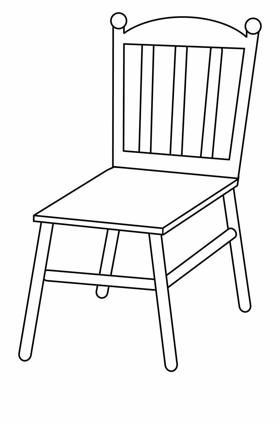 Line art transparent background. Chair clipart black and white