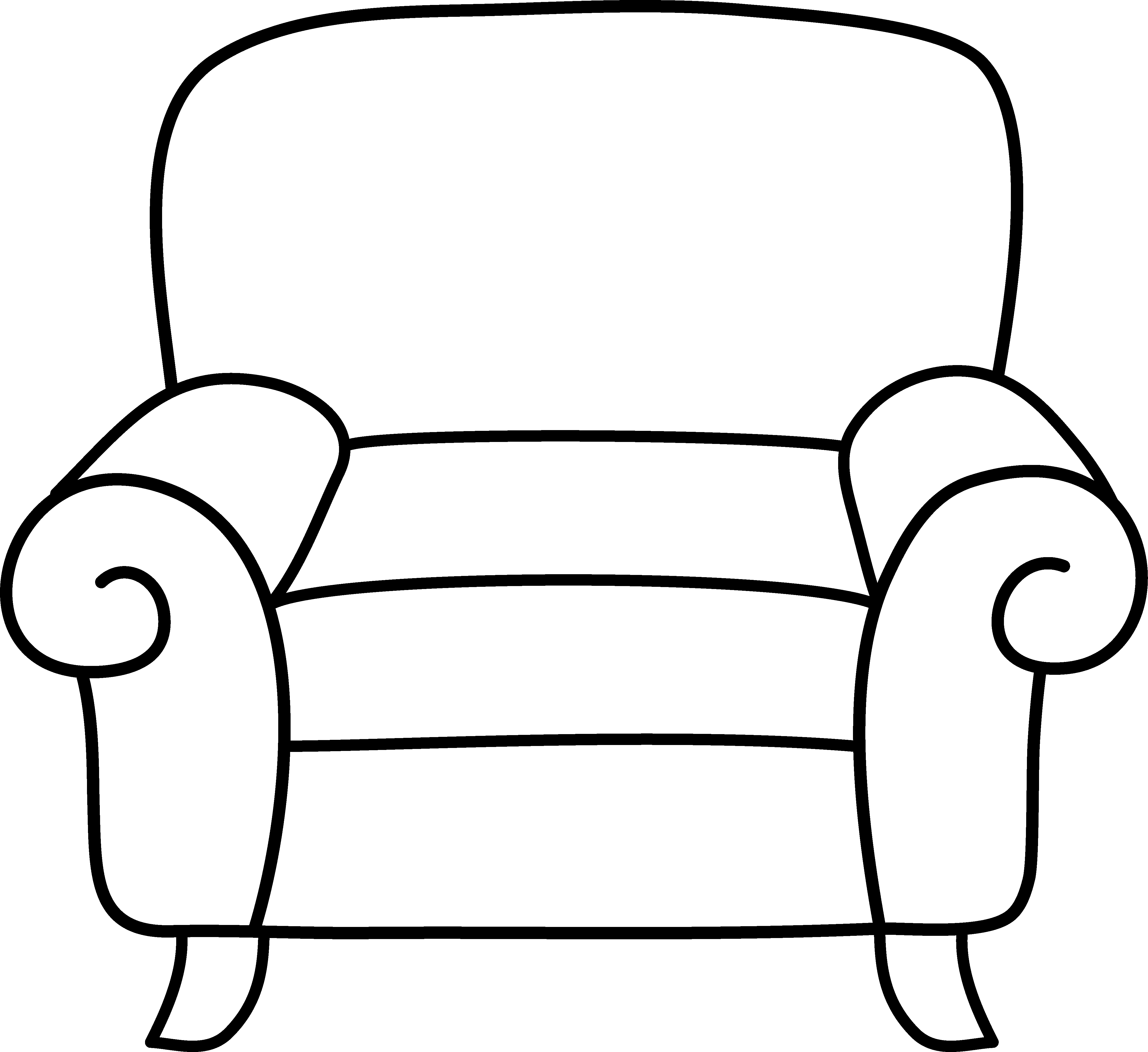 Beach panda free with. Chair clipart black and white