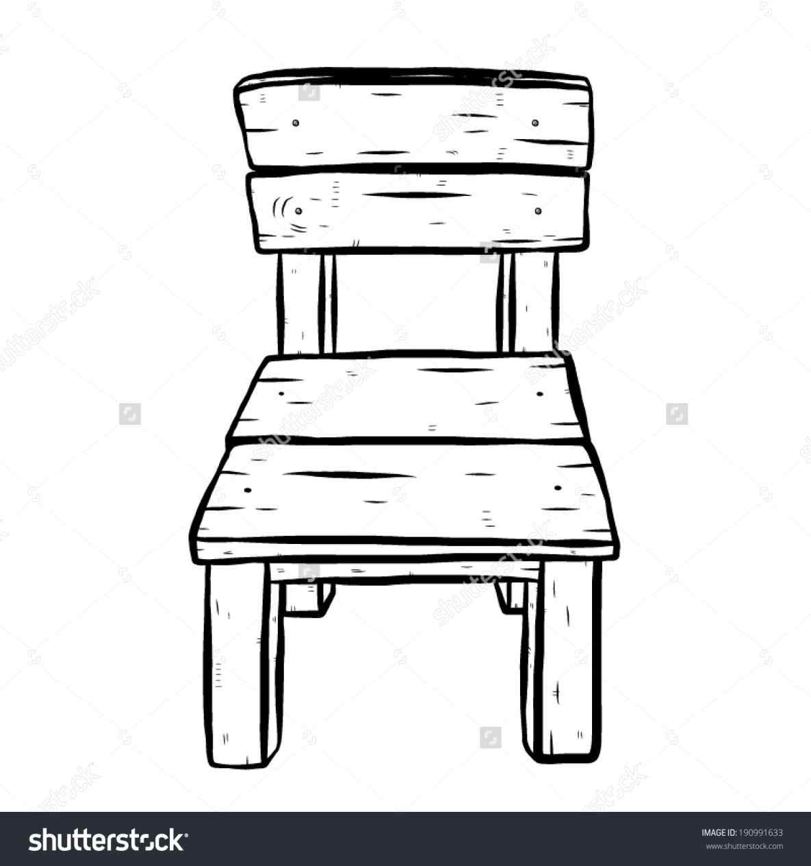 Chair clipart black and white. The images collection of