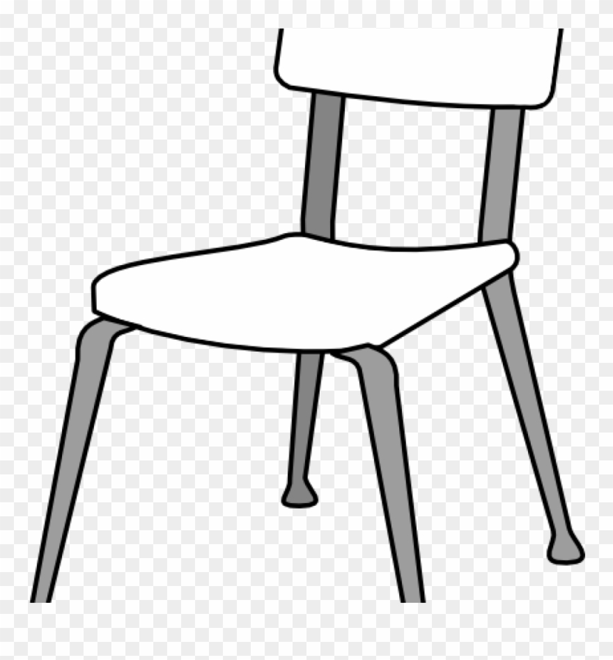 Chair clipart black and white. School classroom clip art