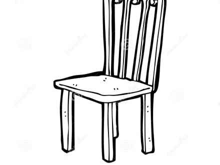 Chair clipart black and white. Cool of letter master