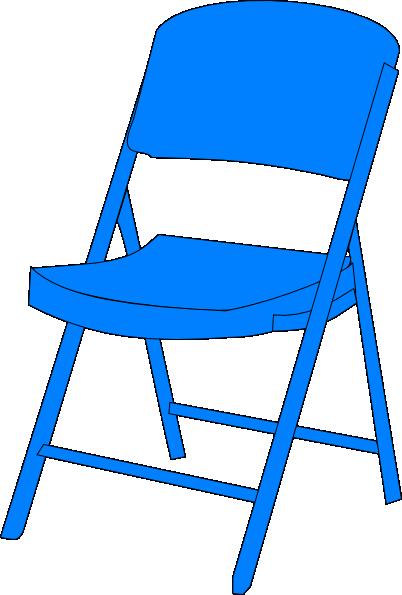 Fold up clip art. Furniture clipart blue chair