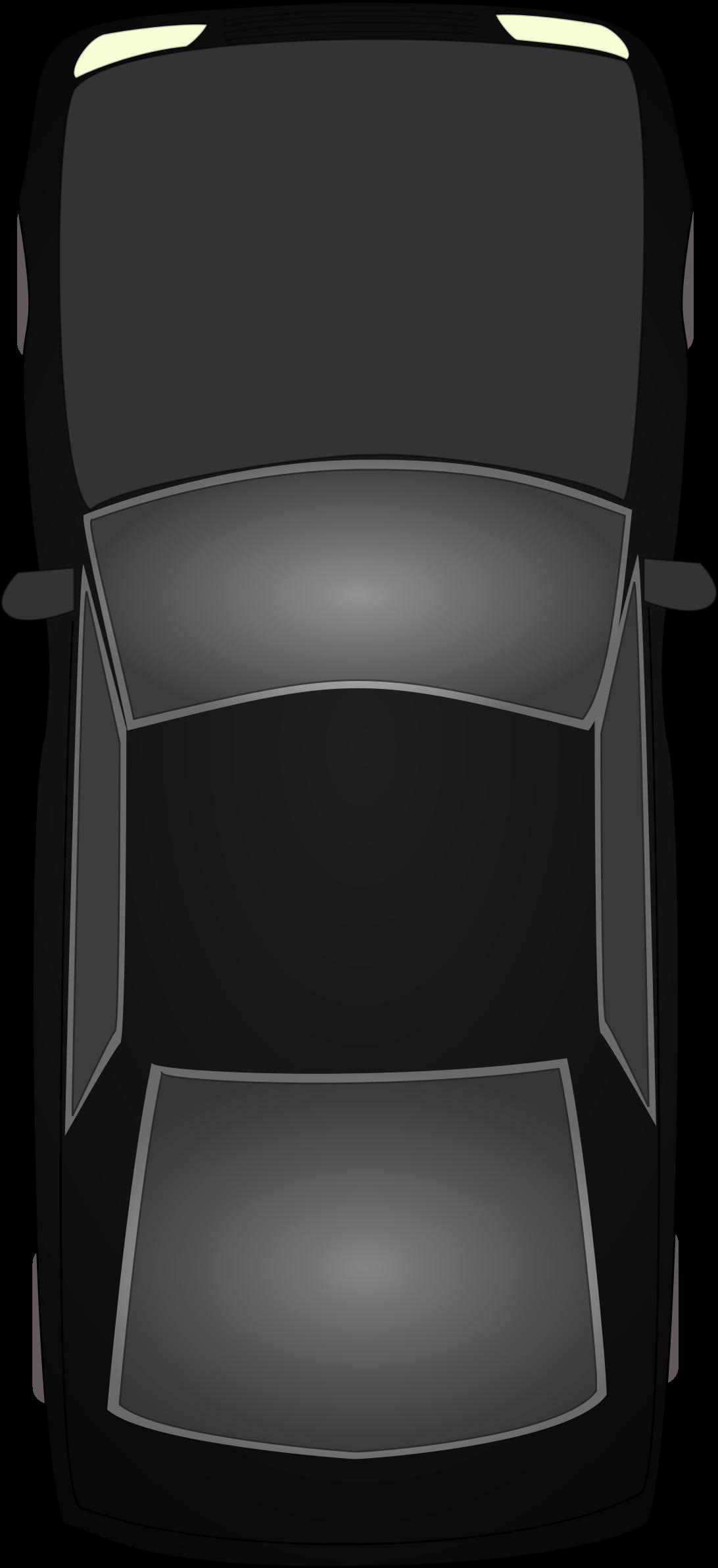 Clipart road top view. Black car topview big