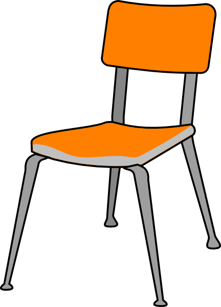 Clipart table empty table. Student chair clip art