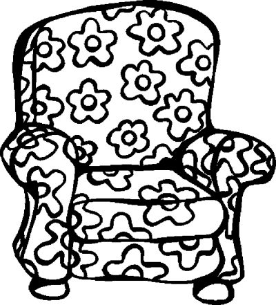 Chair colouring page