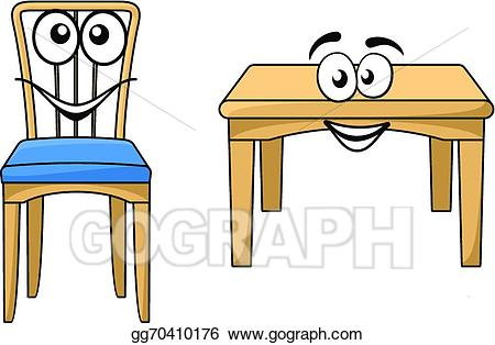 Furniture clipart cute. Eps illustration cartoon wooden