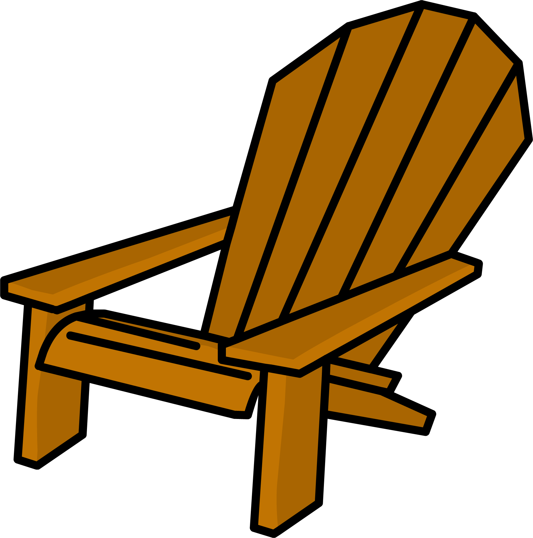 Chair clipart deck chair. Lounging club penguin wiki