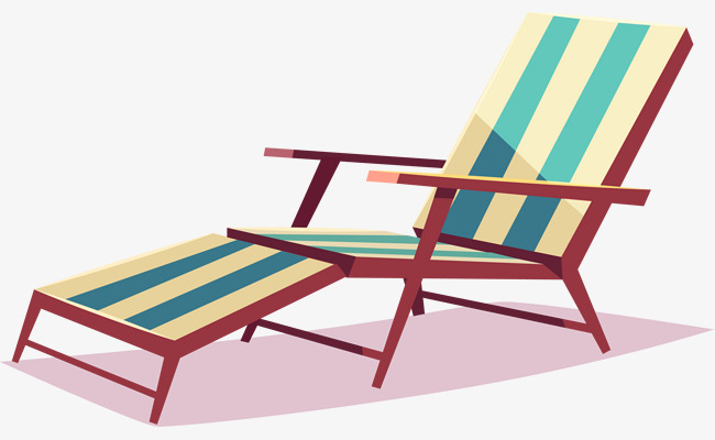 Chair clipart deck chair. Green cartoon png image