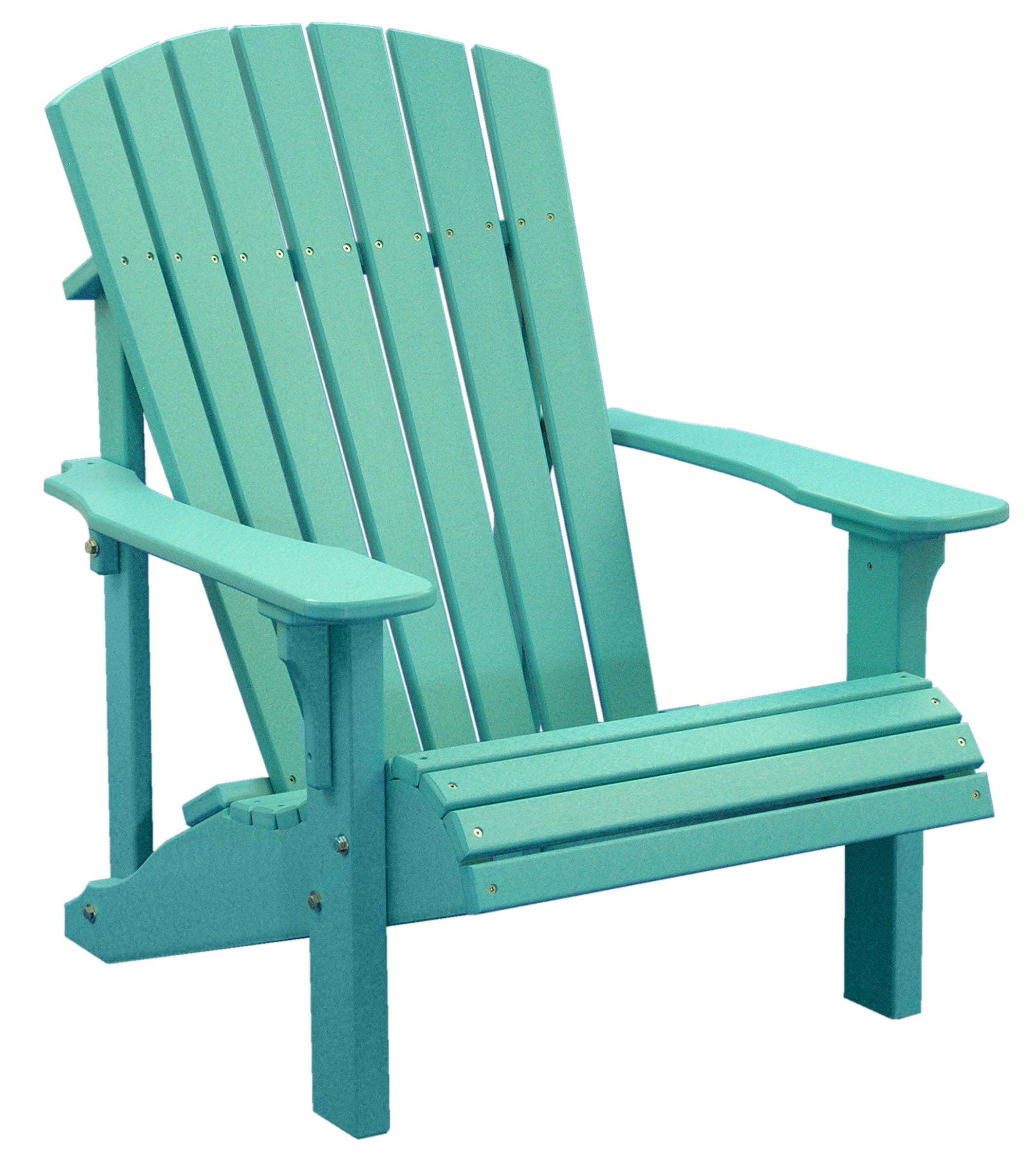 Chair clipart deck chair. Chairs amish merchant deluxeadirondackchairarubablue