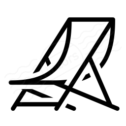 Iconexperience i collection icon. Chair clipart deck chair