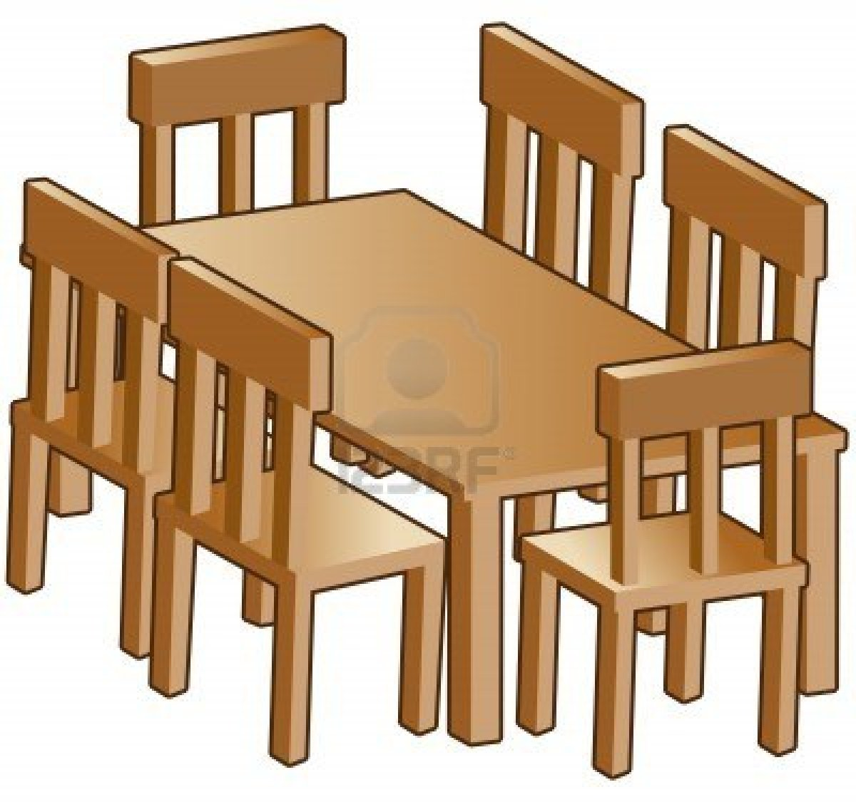 Room . Furniture clipart dining area