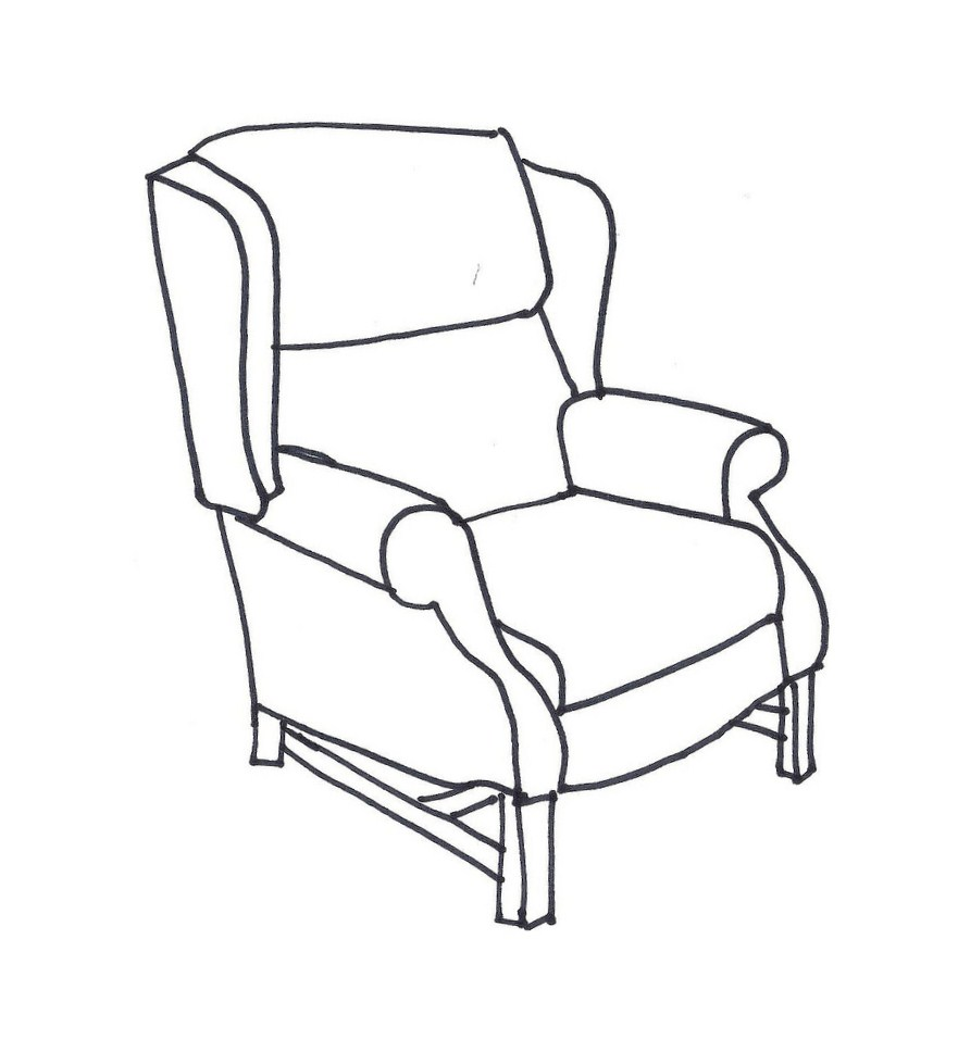 Clipart chair drawing. Gallery clip art library
