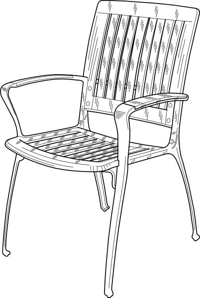 Chair clipart garden chair. Plastic clip art free