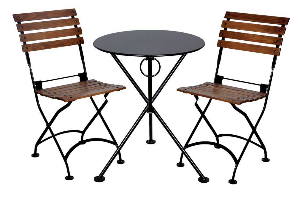 Table and chairs drawing. Chair clipart garden chair