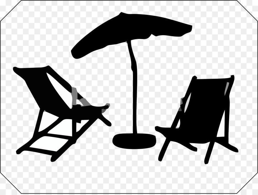 Chair clipart garden chair. Deckchair furniture umbrella chairs
