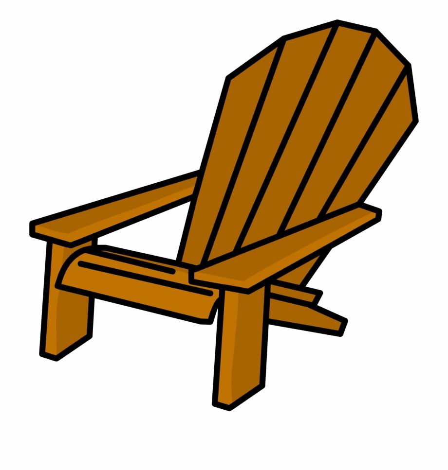 Chair clipart garden chair. Deck furniture wooden beach