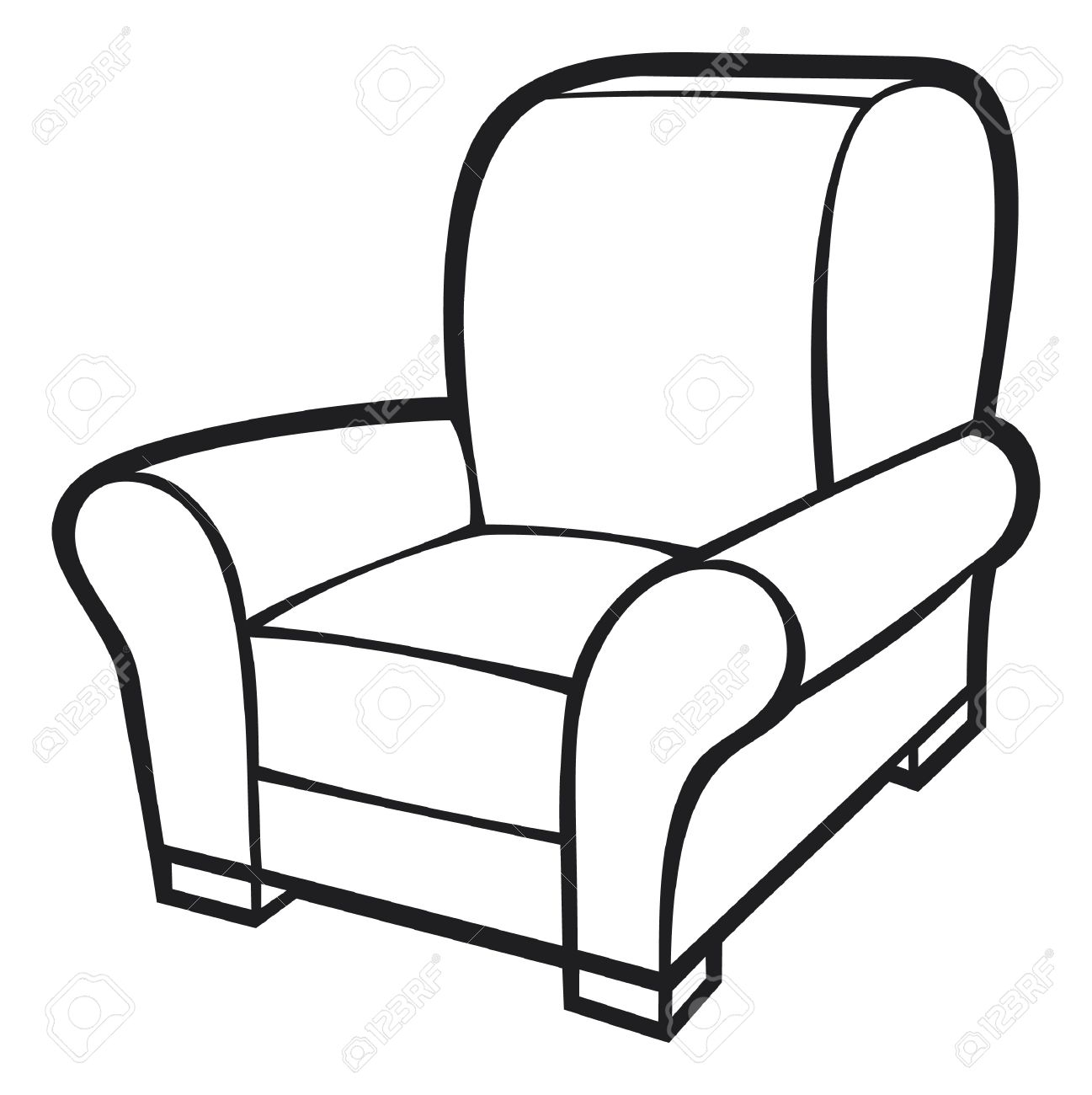 Furniture clipart line art. Black and white free
