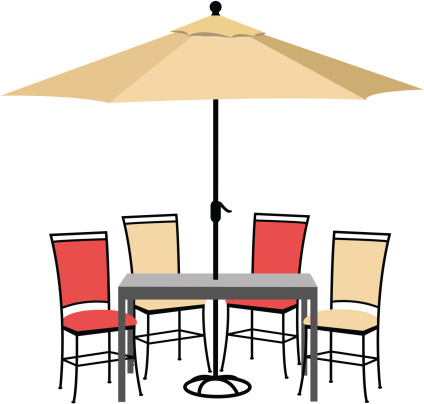Furniture clipart patio. Free outdoor chair cliparts