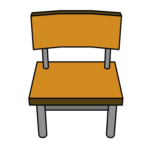 School chair . Furniture clipart cartoon
