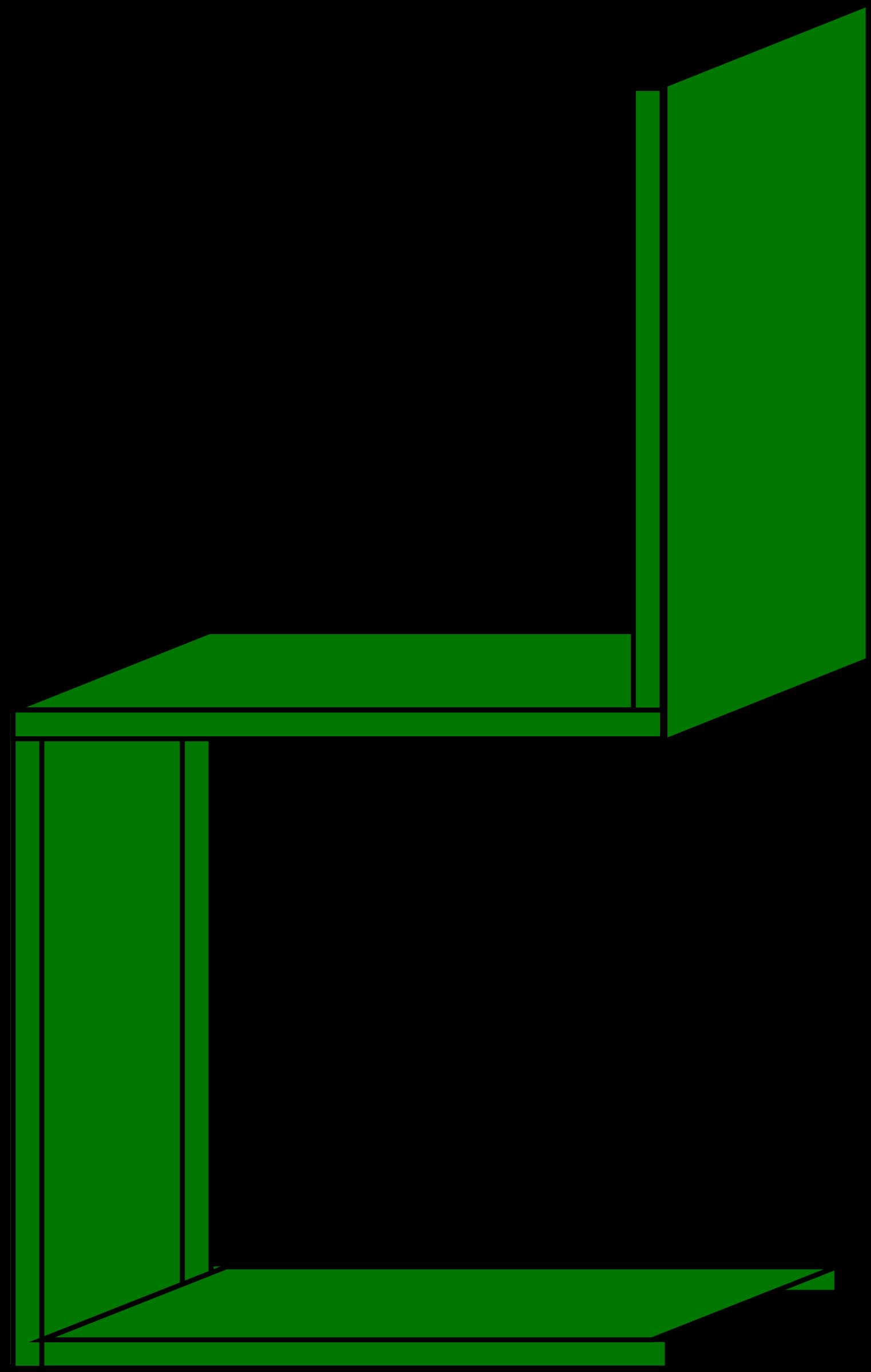 Diamond clipart minimalist. Green chair side view
