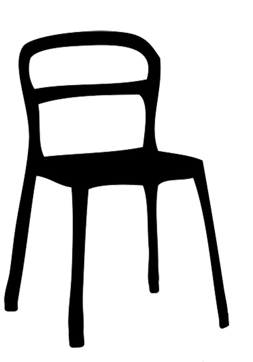 Chair silhouette at getdrawings. Furniture clipart silhouettes