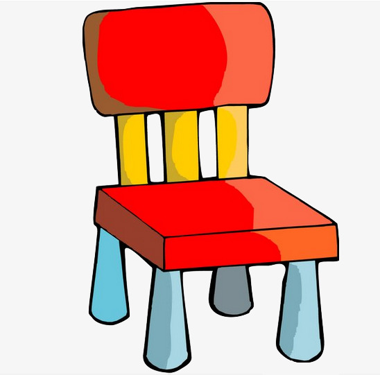 Colored chairs geometry color. Chair clipart small chair