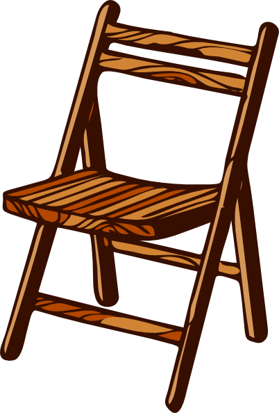 Chair clipart small chair. Wooden folding clip art