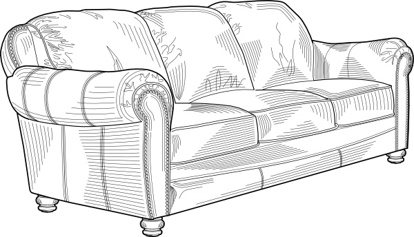 Couch clipart free vector. Sofa chair clip art