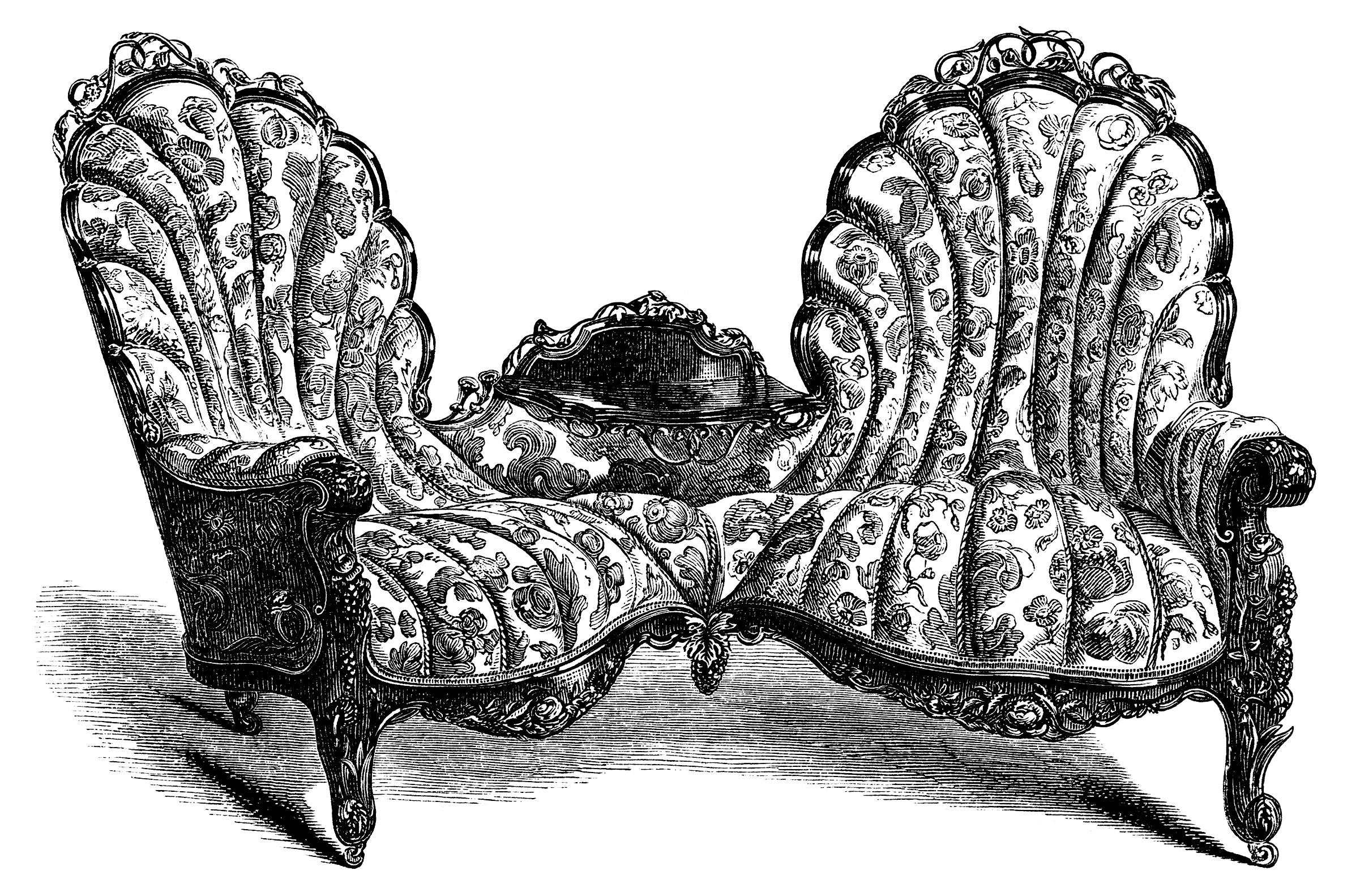 Chair clipart sofa. Victorian furniture and free