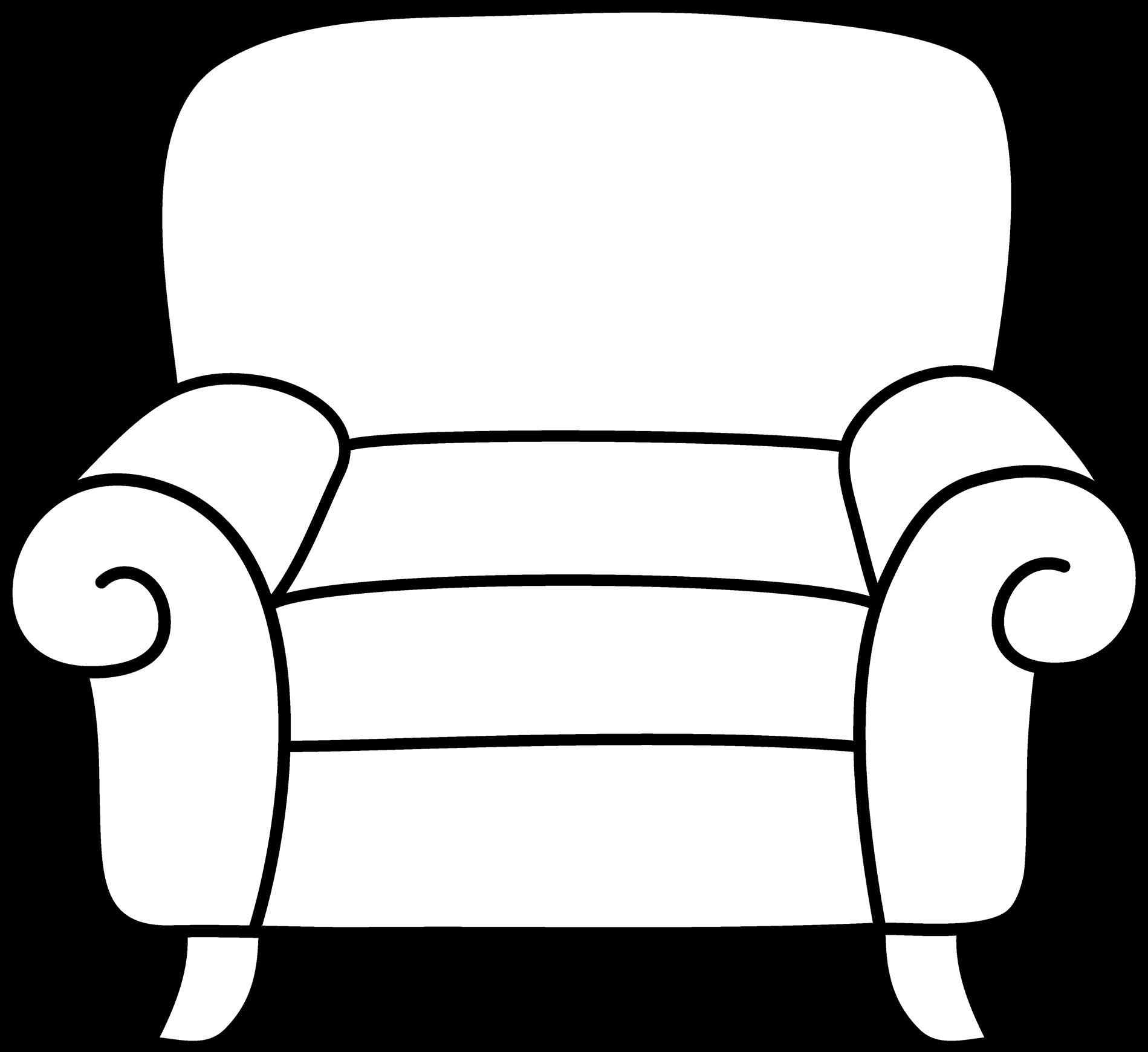 The images collection of. Chair clipart sofa