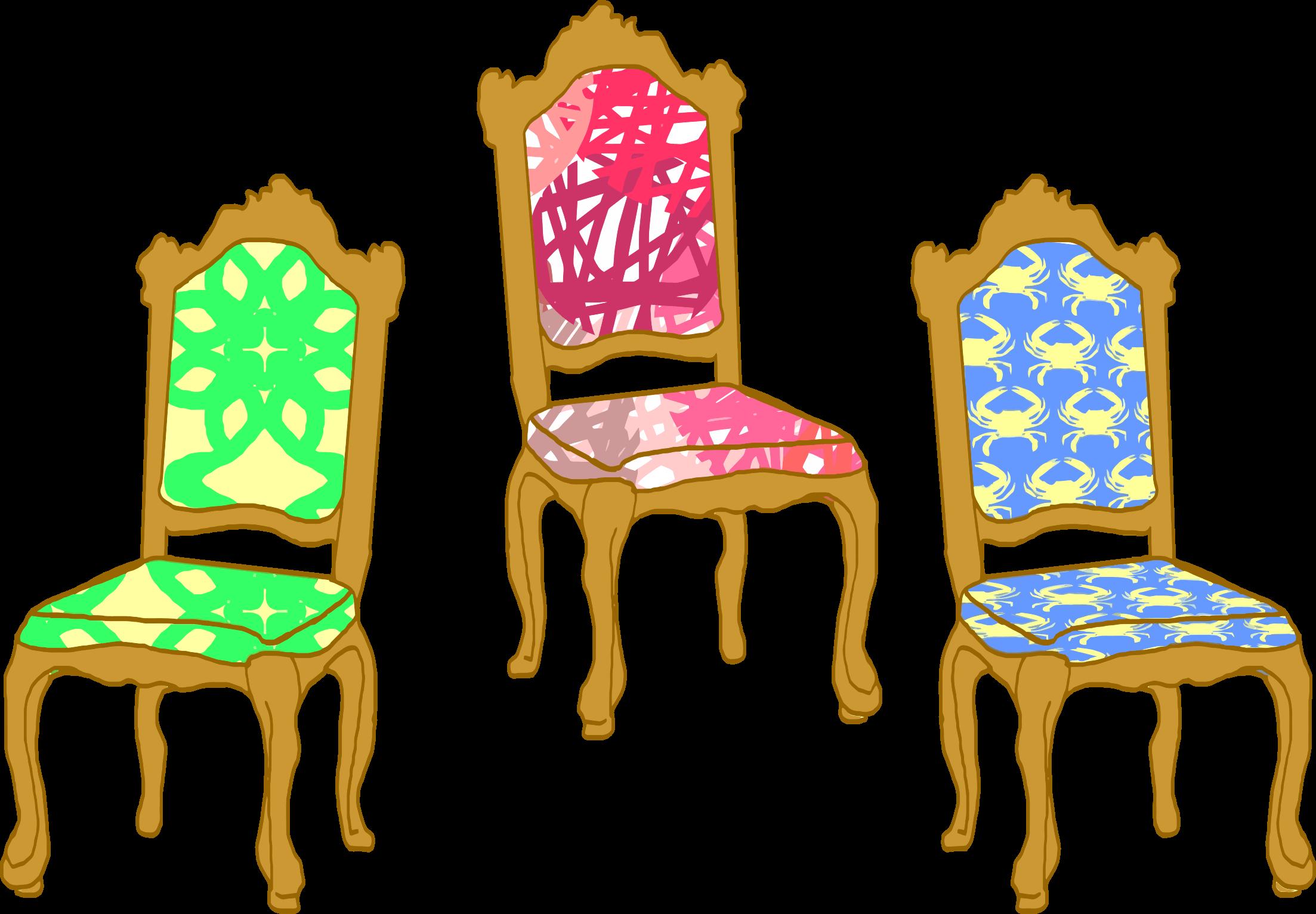 Chair clipart three chair.  chairs cliparts zone