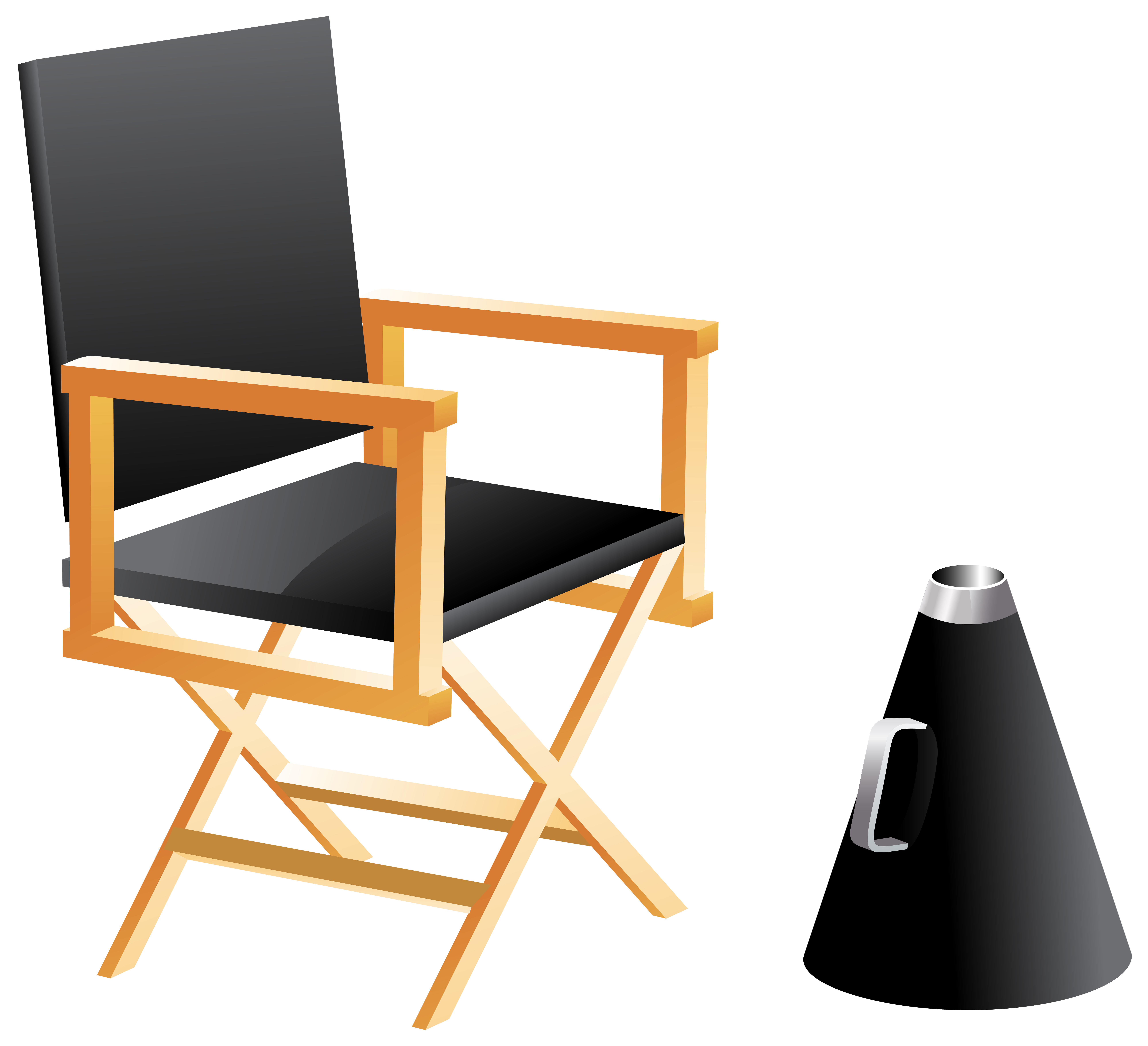 Clipart table table chair. Directors and megaphone png