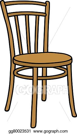 Clipart chair wooden chair. Eps vector old stock