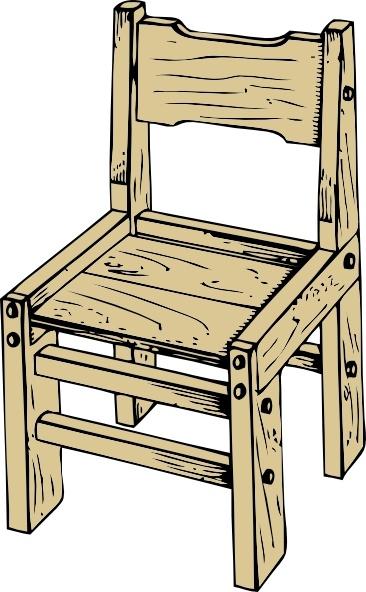 Clip art free vector. Clipart chair wooden chair
