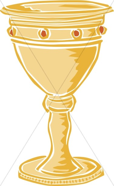 Gold jewelled. Communion clipart chalice