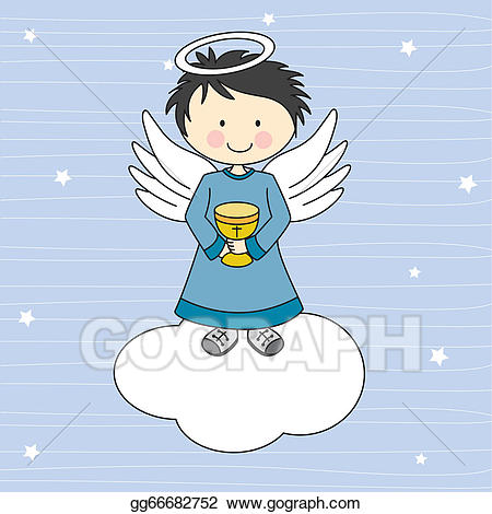 Chalice clipart angel. Vector stock with a