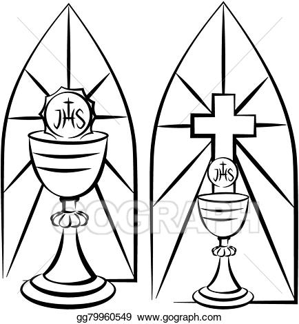 Vector art and stained. Chalice clipart animated