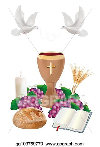 Stock illustrations isolated christian. Chalice clipart bible