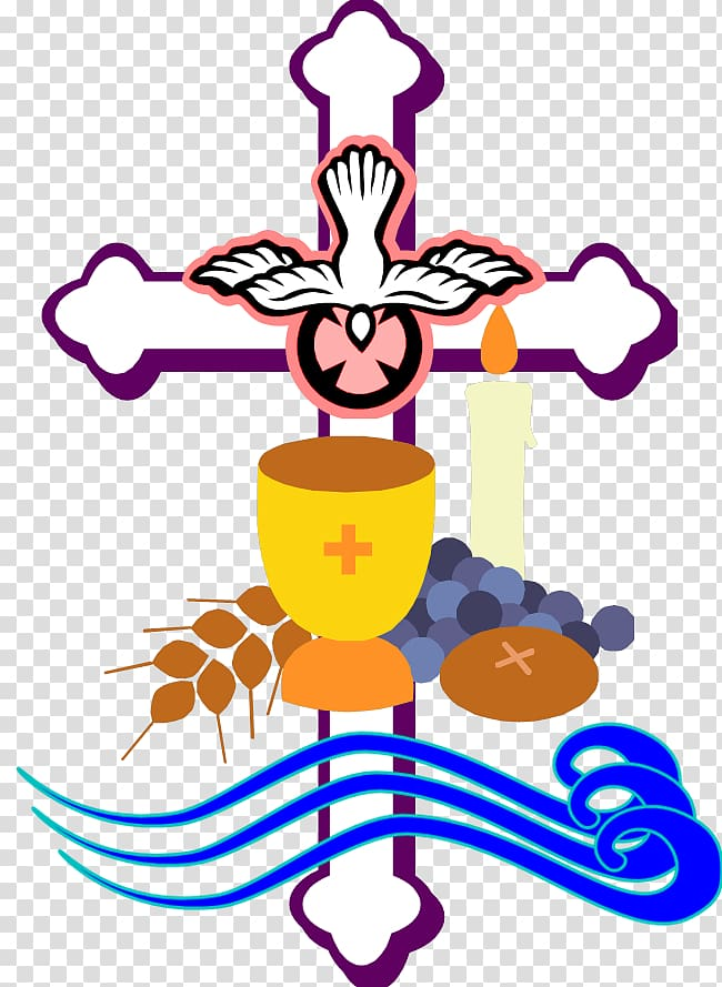 Cross and bird illustrations. Chalice clipart bible