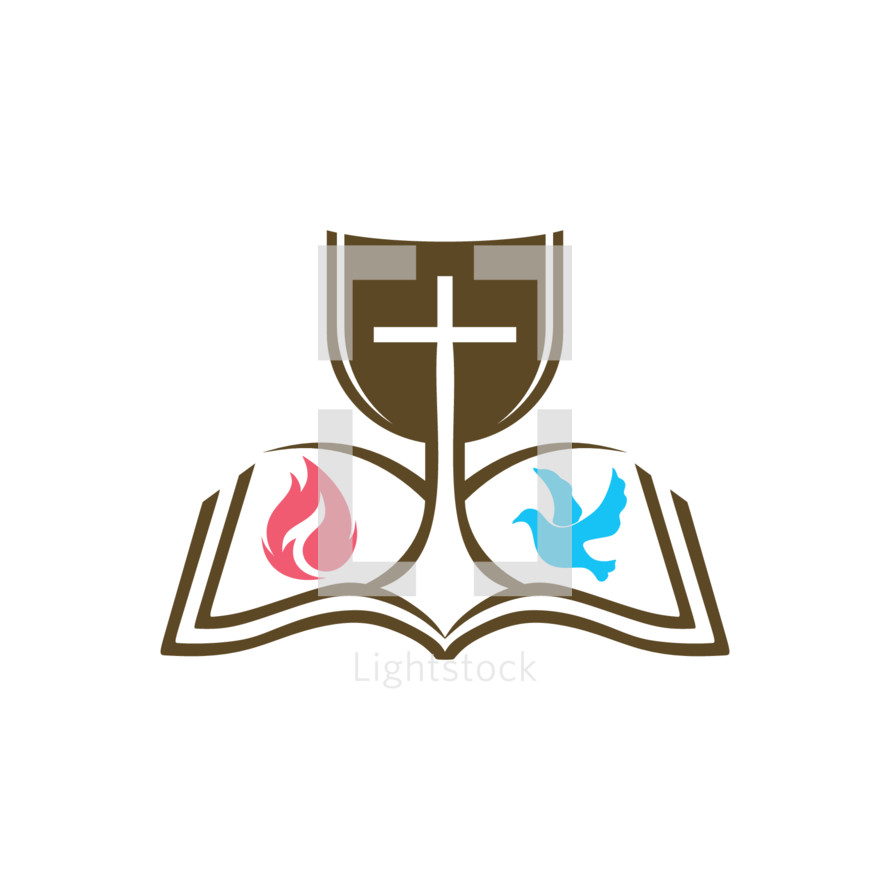 Chalice clipart bible. Communion on an open
