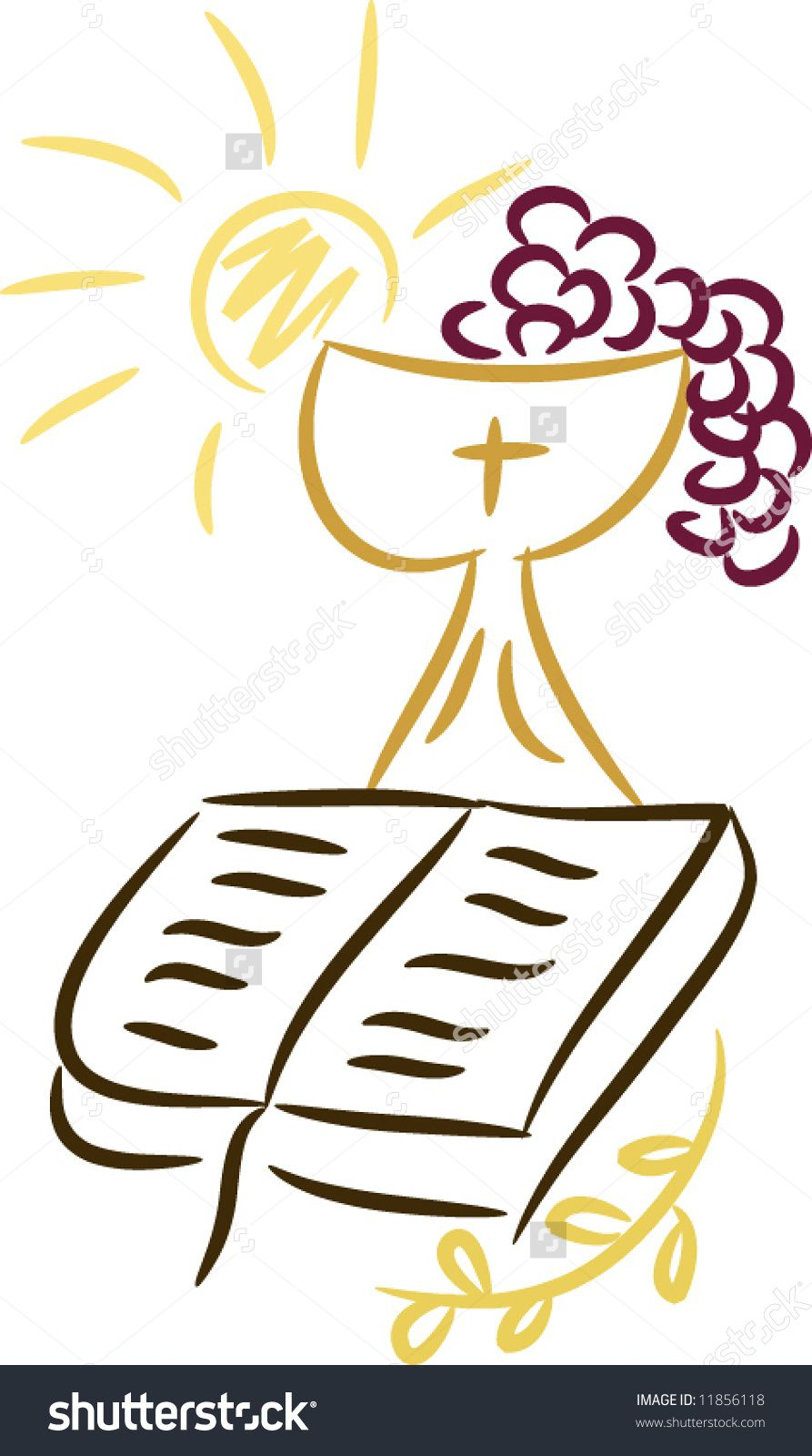 Symbols of religion and. Chalice clipart bible