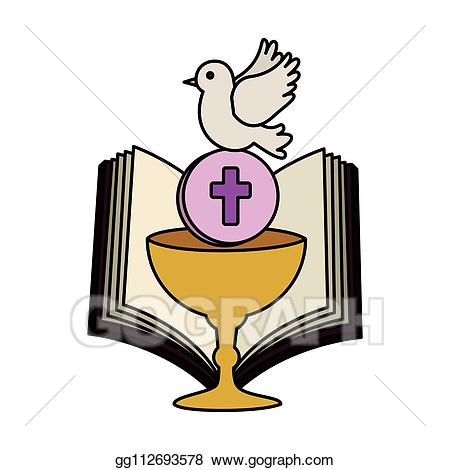Chalice clipart bible. Eps illustration holy with